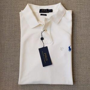 Men NWT Polo Ralph Lauren White Polo Shirt XL